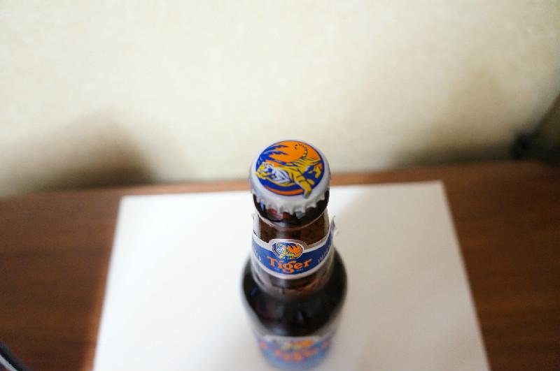 タイガービール(斜め真上)