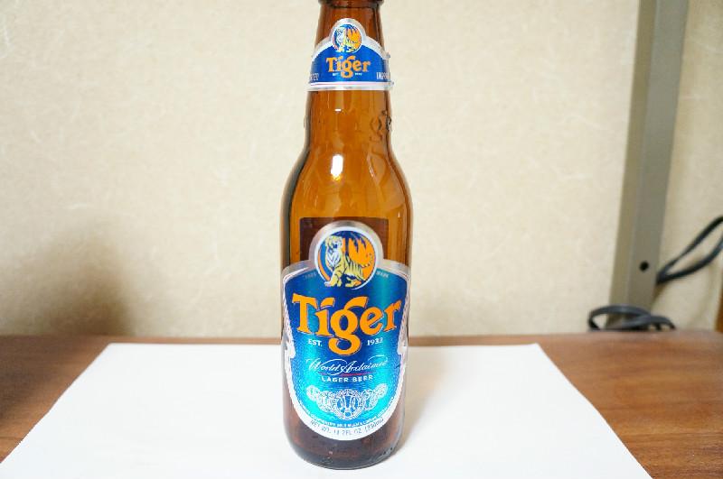 タイガービール(瓶正面)