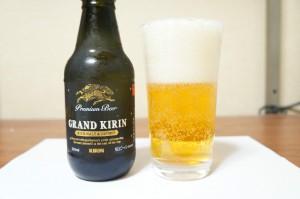 グランドキリン瓶とグラス