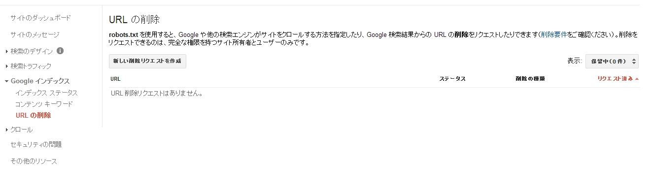 URL の削除